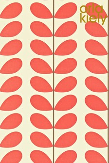 Orla Kiely Green Classic Stem Wallpaper