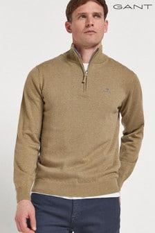 GANT Classic Cotton Half Zip Jumper