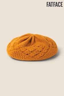 FatFace Yellow Crochet Beret