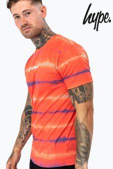 Hype. Mens Orange Light Vibe T-Shirt
