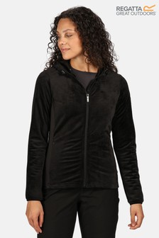 Regatta Black Siddington Full Zip Hooded Fleece Jacket