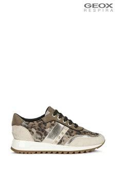 Geox Womens Tabelya Olive/Beige Shoes