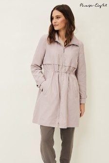 Phase Eight Pink Sindy Parka Coat