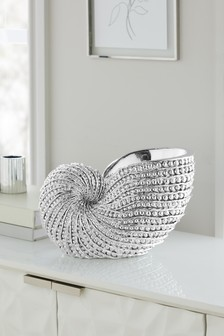 Silver Large Shell Ornament