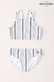 Abercrombie & Fitch Blue Stripe Bikini