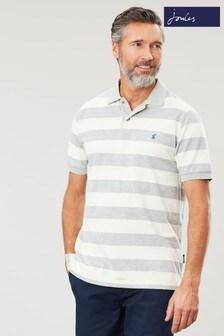 Joules Grey Filbert Striped Poloshirt