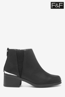 F&F Black Chunky Chelsea Boots