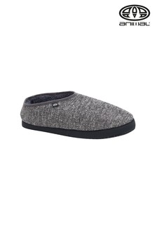 Animal Grey Bollo Mens Shortie Slippers