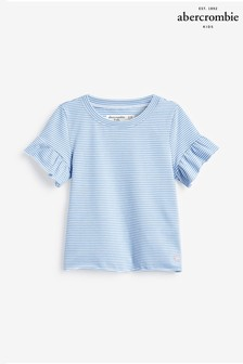 Abercrombie & Fitch Blue Stripe T-Shirt