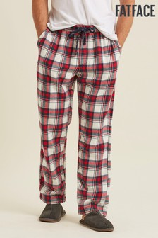 FatFace Red Southwick Festive Pyjama Bottoms