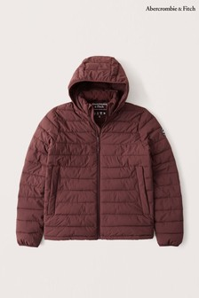 Abercrombie & Fitch Burgundy Lightweight Packable Jacket