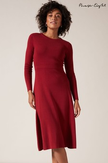 Phase Eight Red Mel Midi Fit And Flare Dress