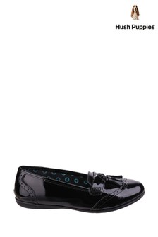 Hush Puppies Black Esme School Shoes