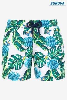 Sunuva Blue Banana Palm Swim Shorts
