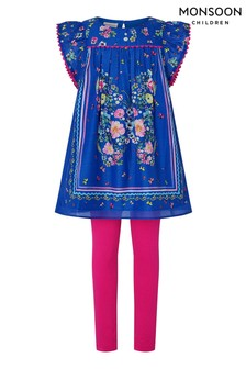 Monsoon Blue Gianna Butterfly Shift Tunic And Leggings