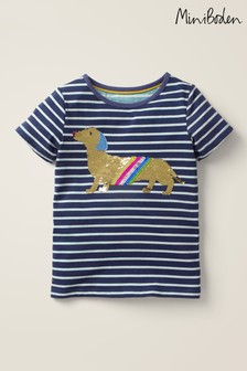 Boden Blue Sequin Colour-change T-Shirt