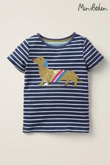 Boden Blue Sequin Colour-change T-Shirt