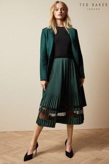 Ted Baker Black Scarlah Knitted Long Sleeved Dress