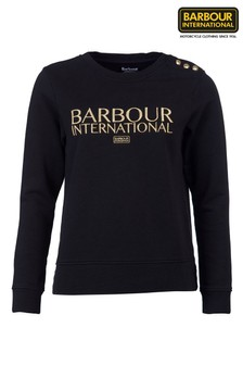 Barbour® International Gold Embroidered Logo Cadwell Sweatshirt