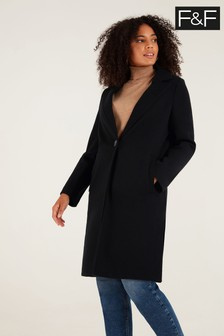 F&F Black Unlined Formal Coat