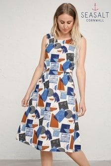 Seasalt Petite Blue Quick Sketch Dress