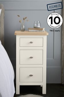 Hampton Country Luxe 3 Drawer Bedside