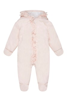 Baby Girls Pink Padded Snowsuit