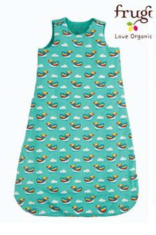 Frugi Blue Organic Tog Baby Duck Print Sleeping Bag