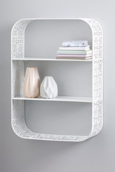 Ornate Metal Shelf