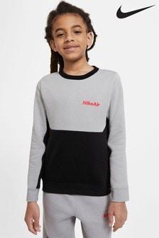 Nike Grey/Black Air Crew Sweater
