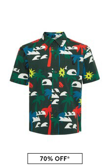 Stella McCartney Kids Boys Multicoloured Cotton Shirt
