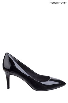 Rockport Black Patent Total Motion Pointy Toe Stiletto Shoes