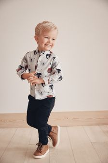 Long Sleeve Grandad Collar Shirt (3mths-7yrs)