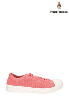 Hush Puppies Pink Schnoodle Lace-Up Summer Trainers