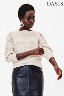 Oasis Natural Chloe Cable Knit Jumper