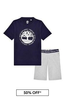 Timberland Boys Navy Cotton Set