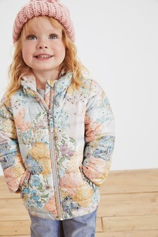 Shower Resistant Patchwork Printed Padded Jacket (3mths-7yrs)