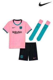 Nike Pink FC Barcelona Third 20/21 Kids Mini Kit