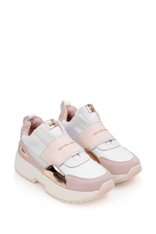 Girls White/Pink Trainers