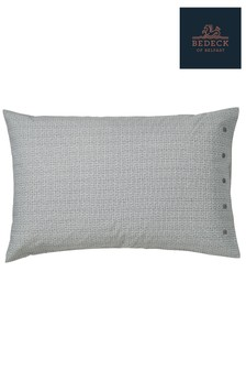 Bedeck of Belfast Allegro Grid Print Cotton Housewife Pillowcase