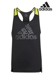 adidas Black Leopard Print Vest