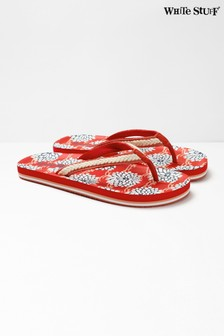 White Stuff Red Sea Lily EVA Flip Flops