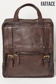 FatFace Brown Leather Rucksack