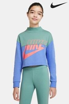 Nike Colourblock Cropped Crew Sweater