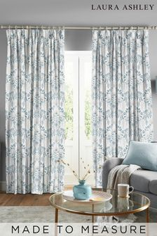 Laura Ashley Parterre Off White Seaspray Made to Measure Curtains