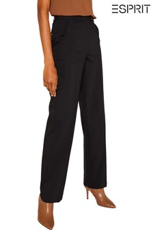 Esprit Black Straight Stretch Trousers