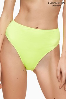 Calvin Klein Yellow Wave High Waisted Bikini Bottoms