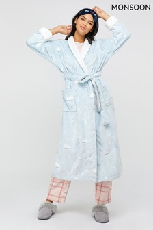Monsoon Blue Hadley Print Long Robe