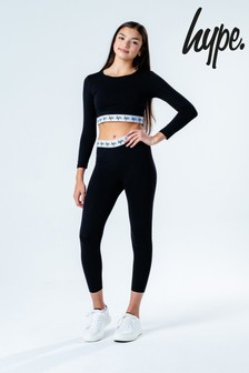Hype. Core T-Shirt And Legging Logo Set