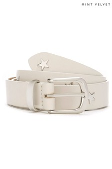 Mint Velvet Black Star Studded Belt